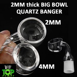 Wholesale 2MM Big Bowl Quartz Banger Nails With mm mm mm Male Female Joint Fire Frostedfor glass bongs water pipes oil rigs