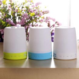 China inalámbrica inteligente en venta-El más reciente Ambiente Wireless botón de la lámpara LED del altavoz Bluetooth 3.0 Mini Altavoz LED luz de la noche de Smart LED de luz de la lámpara del panel de tacto