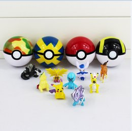 Wholesale 7CM Styles Anime Poke Ball ABS Action Figures Toys Super Master for kids gift retail