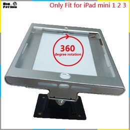 Wholesale Fit for iPad mini1 wall mount metal case store display retail bracket store tablet pc lock holder support Adjust the angle