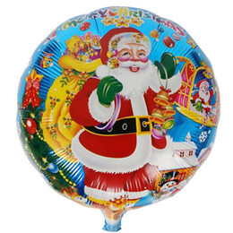 Wholesale Christmas Trees For Cheap - Cheap Sale Christmas Tree Santa Claus Helium Aluminum Foil Balloons 18 Inch Balloon Gifts For Kids Toys or Wedding Birthday Party Decoration