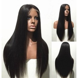 Long Straight Full Lace wig Brazilian Hair Glueless Full Lace Human hair wigs with baby hair lace front wig for black women