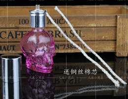 Wholesale wholesalers New listing glass alcohol lamp crystal skull send wicks capacity ml color random delivery