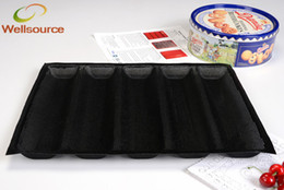Wholesale Silicone Non Stick Baking Liners Mat Bread Mold Subway Bread Mould Loaf Bread Form Perforated Baking Mat for Inch Sub Rolls