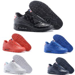 Wholesale Fashion cheap men air cushion leather USA flag vt running shoes america flag outdoor shoes men athletic sports shoes