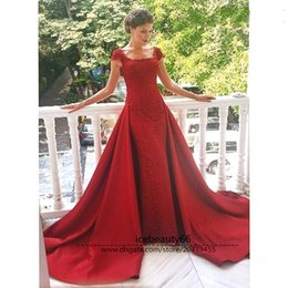 Wholesale 2017 formal evening dress red court train elegant dance party dress can be customized Welcome to icebeauty66 online store