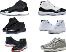 New 11 Bred Concord Space Jam Legend Gamma Blue 11s Mens Basketball Shoes Cheap Sneakers 2018 Chicago Gym Red Sports Shoes 26 45