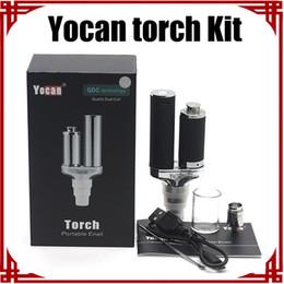 [sp] Original Yocan Torch Kit Vaporizador Kit Cera Vaporizador Pluma y Hierba Seca Vaporizador E Cigarrillo Cuarzo Dual Coil Herbal Yocan Vaporizador