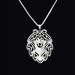 Shetland Sheepdog jewelry Silver Gold Necklaces & Pendants For Women Casual Jewelry Charms Dog Necklace