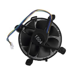 Wholesale pc CPU Heat Sink Aluminium for Intel Socket Base Fan Heatsink Cooler Cooling with fan blades For PC Computer V W