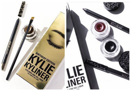 Wholesale HOT NEW Kylie Cosmetics Kylie Kyliner In Brown AND Black Kyliner Kit Birthday Edition Dark Bronze Set DHL GIFT