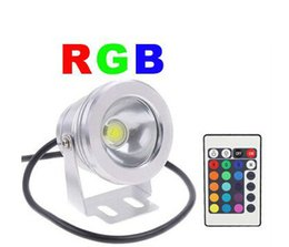 RGB Blue Red Warm white LED Underwater Light 12V 10W Outdoor Waterproof Swimming Pool Lamp with Memory Function Bright Chip 20pcs lot DHL