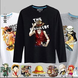 Wholesale One piece T shirt luffy sweethearts outfit short sleeve round collar cotton men and women In the summer of animated cartoon clothes