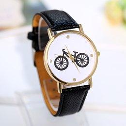 Wholesale New Fashion Bicycle Gold Dial Watch Women Hot sale Luxury Brand Wristwatch Woman Quartz Leather Watch Ladies Hours Montre Clock