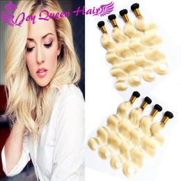 Wholesale Peruvian Ombre human hair Bundles b black Blonde human hair weave Brazilian Indian Malaysian human hair extension Body wave PC double weft