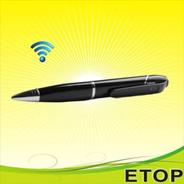 Wholesale portable WiFi HD P Pen Hidden Camera Audio Video Covert Recorder Digital Mini DVR by Iphone Android IOS