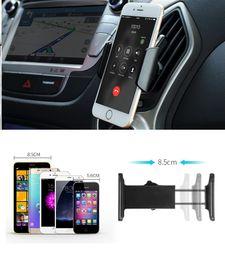 2016 vent mount gps Support de téléphone 150pcs Universal Car Air Vent Mount GPS stand 360 Support de téléphone mobile réglable pour l'iPhone 5 6 Plus Samsung S6 HTC ZA0289 vent mount gps promotion