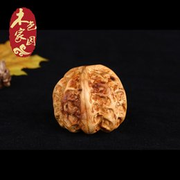 Wholesale Wood color home arborvitae hand pieces of walnut wood carved hand pieces WenWan Antique Hand carved with
