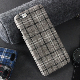 Plaid Style Cell Phone Cases Red Black Lattice Phone Covers with Unique Design for iphone 7 7 Plus 6s 5S 89