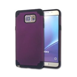 Wholesale 1 Piece for Samsung Galaxy Note5 Cases Duets Dual Layer protection shockproof Plastic Sillicone Cell Phone Cases for Samsung Galaxy Note5