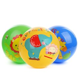 Wholesale 1pc Bouncing Ball Baby Toy Colorful Cartoon Animal Figure Inflatable Toy Fitness Ball Educational Toy Kid Gift baby toy ball