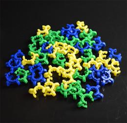 Wholesale 10 mm Clip conjunta plástico Keck con el color amarillo de plástico Keck Laboratorio Laboratorio clip de la abrazadera para el adaptador de Bong Cristal néctar del colector