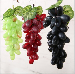 Wholesale Artificial Grape Real Touch Flowers Garden Decorations Plastic Hawaiian Party Decorations Red Green Black Wedding Decorations Silk Hydrangea