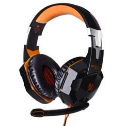 Casque d'écoute de jeu professionnel KOTION CHAQUE G2000 Casque d'écoute d'oreille avec le stéréo de microphone Bonne lumière de basse LED pour le jeu d'ordinateur à partir de jeu casque professionnel fabricateur