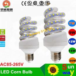 2017 e27 ce smd 2016 NEW Ampoules LED E27 SMD2835 85-265V 7W 9W 12W 16W 20W 24W 110lm / W Ampoule LED 360degree Led Corn Lighti CE UL e27 ce smd sur la vente