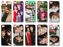 Wholesale Justin Bieber and selena gomez case plastic hard cover for iphone s s c s plus ipod touch