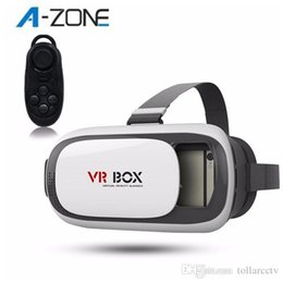 Wholesale VR BOX II D Glasses Bluetooth Remote Virtual Reality Google Cardboard Video Glass Smart Bluetooth Wireless Remote Control Gamepad