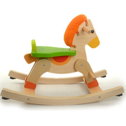 Wholesale Italy big wooden rocking horse year old baby toy wooden toys