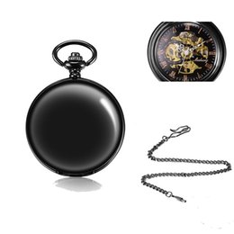 Wholesale Pocket Watches Precision Quartz Ladies Watches Shop GR Automatic Mechanical Steampunk Skeleton Retro Classic Roman Hunter Hand winding