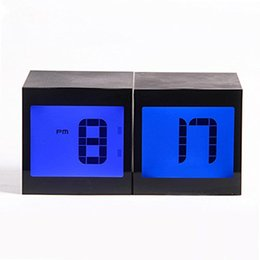 Wholesale ABS Material Large LCD Screen Alarm Clocks Show Humidity Time Temperature Electronic Alarm Clocks Include AA battery Set of