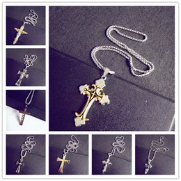 Wholesale Hot stainless steel best selling steel big men s cross style necklace pendant mens pendant