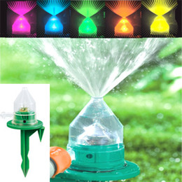 Wholesale Hot Sell LED Garden Lawn Sprinkler Garden Supplies Automatic Color Change Shower Head Sprayers Spray Head Watering Equipments