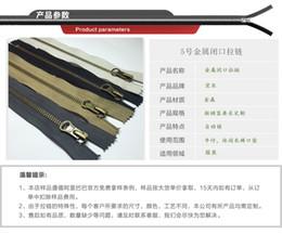 5 metal zipper closed end plated bronze   brass   g Lak