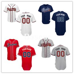 Wholesale Hot Sale Men Atlanta Braves Custom Jerseys High Quality Stitched Any Name And Number You Decide Four Colors Allowed