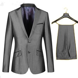 New Arrival Business Suit Jacket Mens Luxury Casual Wedding Suits Classic Groom Suit(Jacket+Pants)
