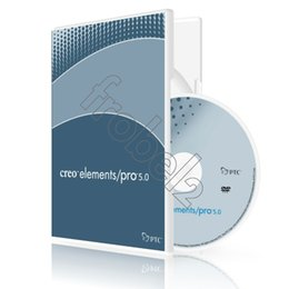 Wholesale Factory Full cracked PTC Creo Elements Pro English for win version DVD English Language software Plastic color box packaging