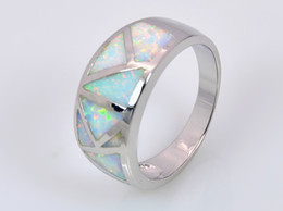 Wholesale & Retail Fashion Fine White Fire Opal Ring 925 Silver Plated Jewelryr For Women EMT1517013