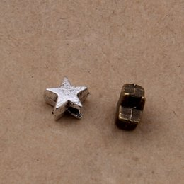 1000 pcs Star Beads Antique Silver & antique bronze color for option approx 5X5 mm free shipping