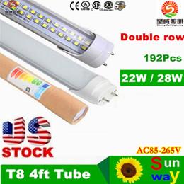 Wholesale 4ft led tube t8 light w W w Warm Cool White mm ft SMD2835 Super Bright Led Fluorescent Bulbs AC85 V CSA UL