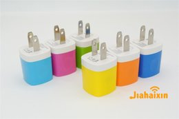 Wholesale Universal Mini USB Home AC Power Adapter Travel Charger US Plug Wall Charger Adaptor Charging For iPhone iPad iPod Samsung Huawei
