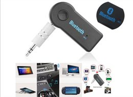 Wholesale Universal mm Bluetooth Car Kit A2DP Wireless AUX Audio Music Receiver Adapter Handsfree with Mic For Phone MP3