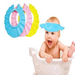 Adjustable Baby Hat Toddler Kids Shampoo Bath Bathing Shower Cap Wash Hair Shield Direct Visor Caps For Children Baby Care