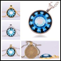 Wholesale New mm time diamond necklace The avengers iron man captain America heart arc necklaces B0372