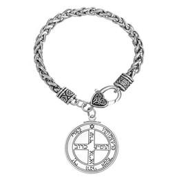 Wholesale Mi Forma pentáculo joyería de Wiccan de Key Júpiter talismán de Salomón sello hermético colgante Enochiana Cábala Braceletss