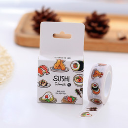 Wholesale Box New Yummy Sushi Japanese Washi Tape Decorative Scotch Tape For Scrapbooking Stickers Diy H1152