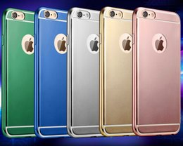 Royal 5 Colors Ultra Thin Slim Plating TPU Case Soft Shockproof Back Cover Skin for iPhone 6 6s Plus